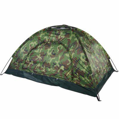 Portable Outdoor Camouflage Recreation Couple Camping Tent professional climbing tents double layers bunk camping tent outdoor tent camping multiplayer anti storm aluminum pole