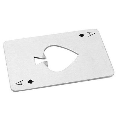 Poker Shaped Can Stainless Steel Credit Card Size Casino Bottle Opener