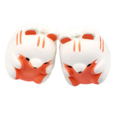 Jumbo Squishy Slow Rebound Simulation Small Hamster Decompression Toy 1PC lovely big simulation fox toy polyethylene
