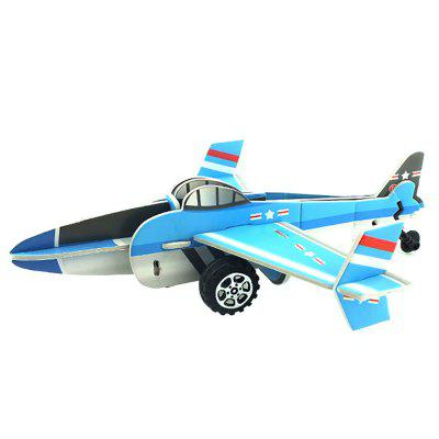 DIY Children Stereo Simulation Aircraft Model Puzzle