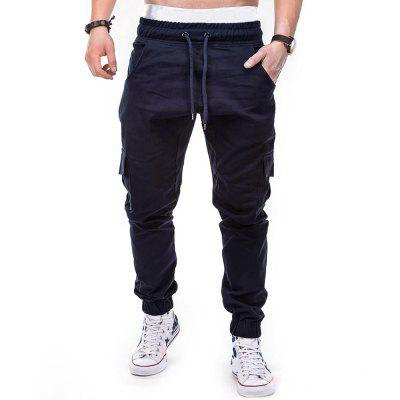 Men Casual Big Pocket Slim Fit Jogger Pants