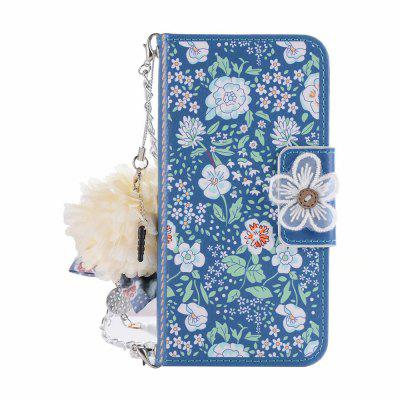 Cooho PZ2D52312 Phone Case for Samsung S9 Jasmine Flower Dust Plug PU Mobile