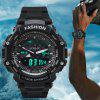 HONHX Men's Band LED Digital Sports Quartz Waterproof Watches - BLACK
