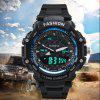 HONHX Men's Band LED Digital Sports Quartz Waterproof Watches - BLUE