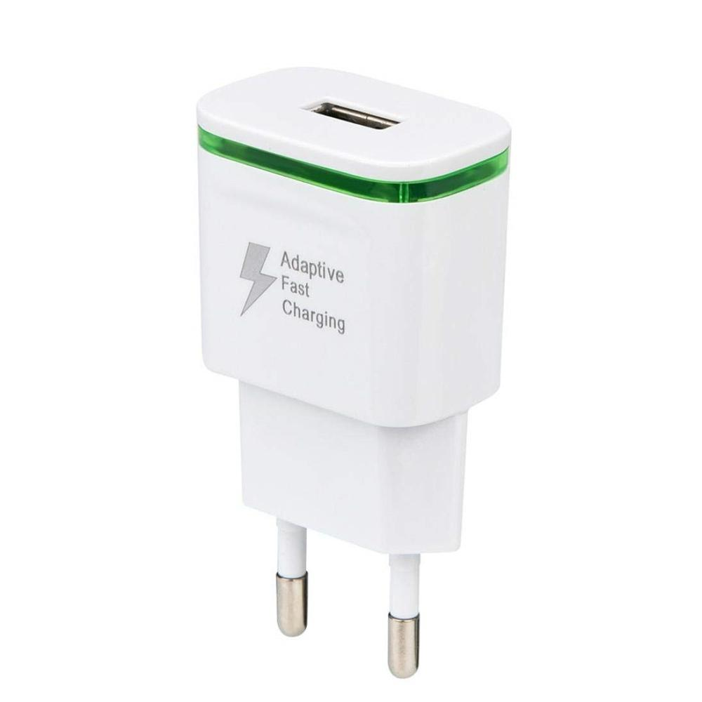 LED Light 5V/2A Quick Fast Charger EU Plug USB Power Adapter
