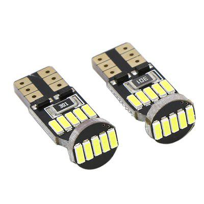 2 Pieces 2W 200LM 6000K White Color T10 W5W CAN-bus LED Reading Light 2x led w5w t10 canbus car light with projector lens for renault trafic safrane megane 2 duster logan laguna koleos scala stepway