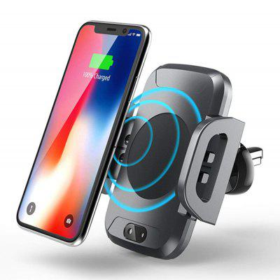 Wireless Car Charger Mount Holder Automatic Infrared Induction Qi Fast Charging