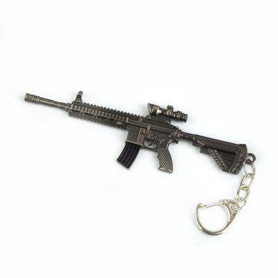 Personality Creative High Quality Alloy Simulation Gun Keychain
