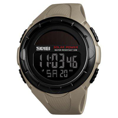 SKMEI Solar Outdoor Sports Men's Luminous 12/24 Hours Digital Watch
