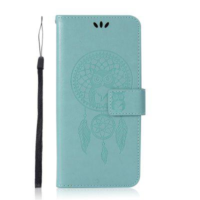 For Samsung S9  Owl Dandelion Embossed Protective Cover