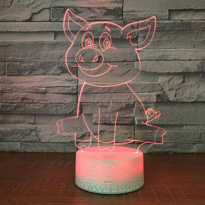 Cute Pig Pattern Touch Colors Changing LED Night Light