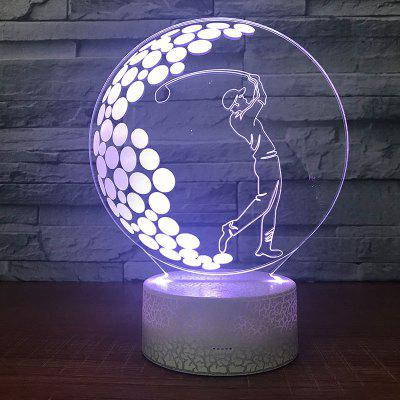 Baseball Kid Pattern Touch Colors Changing LED Night Light