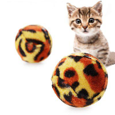 Pet Cat Grinding Claws Leopard Ball Creative Chewing Exercise Toy