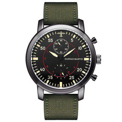 Hannah Martin Nylon Belt Military Flight Sports Waterproof Quartz Men's Watch кабель для монитора vga 15m 15m 1 5м prolink pb462 0150