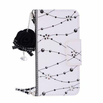 Cooho PZ2D5238 for Samsung S9 Crystal Flower Dust Plug Chain Mobile Phone Cover
