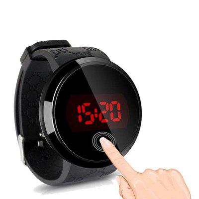 HONHX Simple Touch LED Men Women Silicone Sports Watches