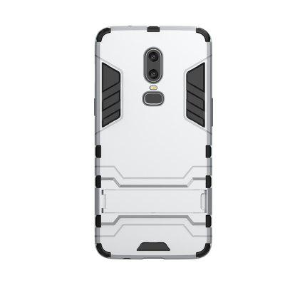 Case for One Plus 6 with Stand Back Cover Solid Colored Hard PC Material
