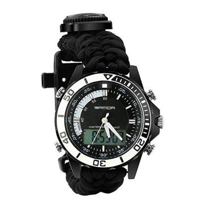 Multifunctional 3 Interchangable Wristband Bracelet Watch with Survival Gear