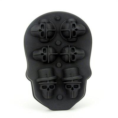 3D Skull Ice Cube Tray with Lid Gin Glasses Whiskey Scotch Cocktail