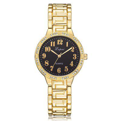 Lvpai P437 Women Diamond Steel Strap Watch