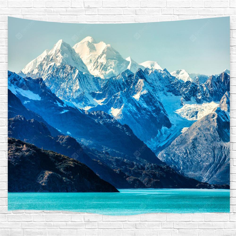 Glacier Bay Mountains 3D Printing Home Wall Hanging Tapestry for Decoration