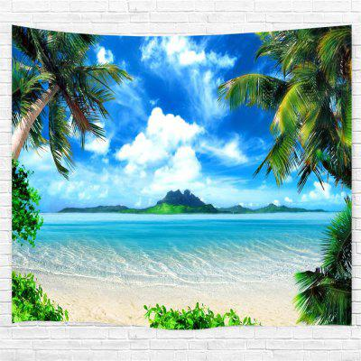 Blue Skycloudscoconut Tree 3D Printing Home Wall Hanging Tapestry for Decoration space shark 3d printing home wall hanging tapestry for decoration