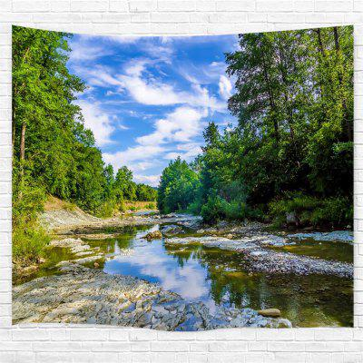Blue Sky Forest River Printing Home Wall Hanging Tapestry for Decoration