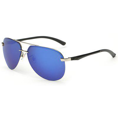 GSA143 Metal Rimless Sunglasses