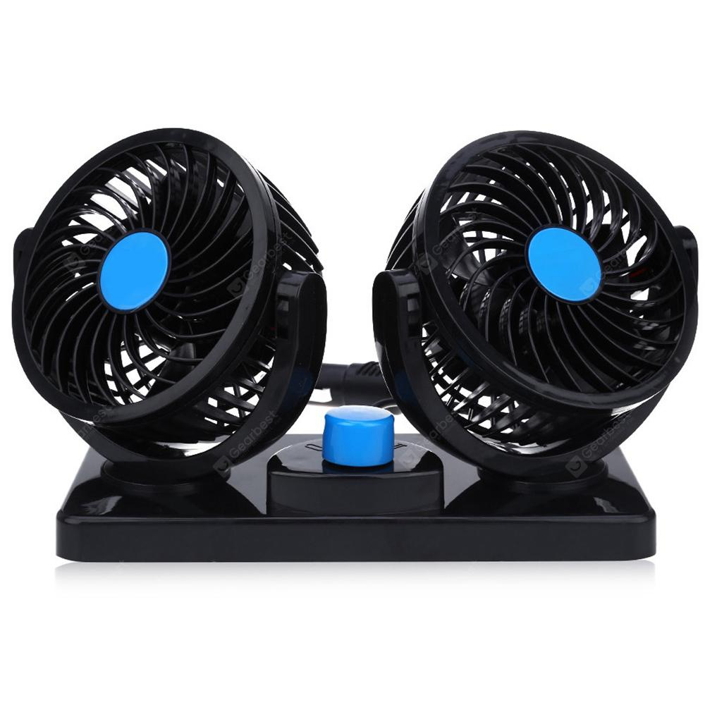 Mini Car Fan Low Noise Summer Air Conditioner 360 Degree Rotating