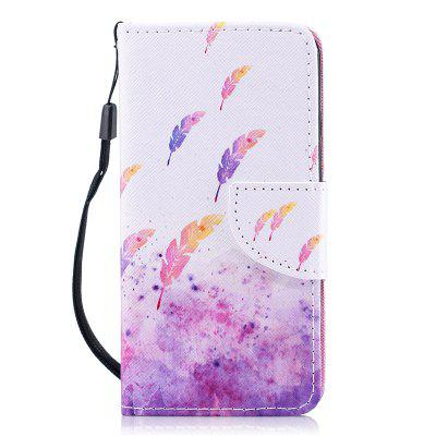 Luxury Style PU Leather Flip Protective Wallet Case Cover for iPhone 6 / 6S wallet leather protective case for iphone 6s plus 6 plus feather pattern