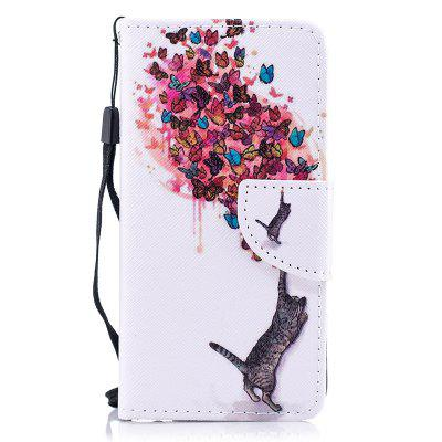 Luxury Style PU Leather Flip Wallet Case Cover for iPhone 6 Plus / 6S Plus wallet leather protective case for iphone 6s plus 6 plus feather pattern