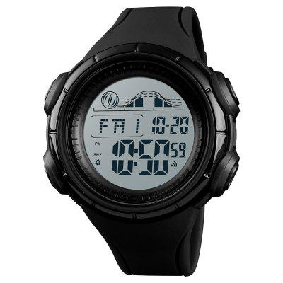SKMEI Multi-function Large Dial Waterproof Countdown Double Time Stopwatch Watch