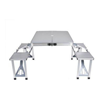 Aluminum Alloy Portable Outdoor Folding Table and Chairs Set ultimaker 2 go master 3 d printer diy aluminum alloy build platform kit print table base plate print table bed glass plate set