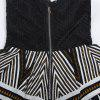 Summer Slim Slimming V-Neck Sexy Lace Casual Print Jumpsuit - BLACK