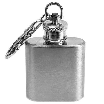 1oz Portable Outdoor Key Chain Small Bottle Hip Flask