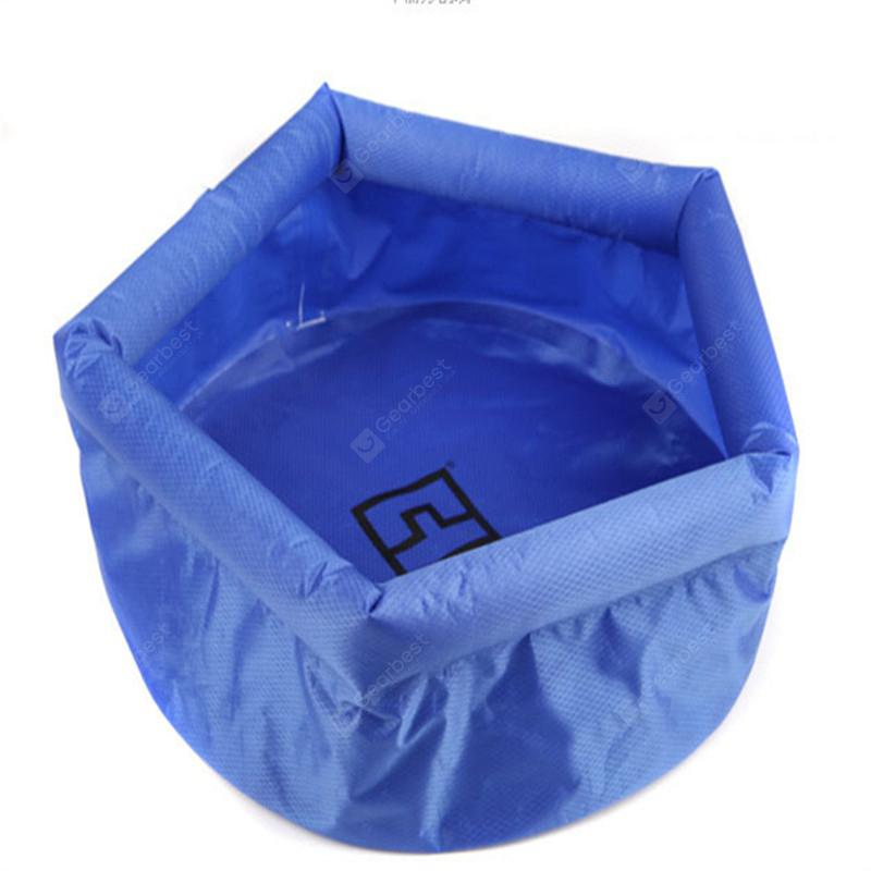 Outdoor Camping Wild Folding Birdbath Thickening Wash Gargle Water Pail of 8L