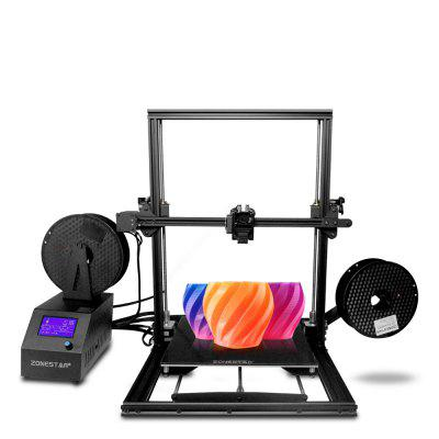 ZONESTAR Z10M2 Mixed Color Fast Assemble Large Size Dual Extruder 3d Pritner BLACK EU