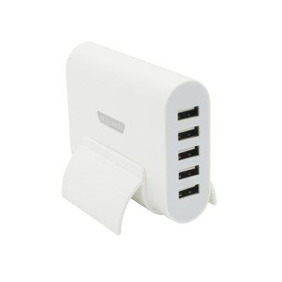 Minismile Universal Portable 40W 5V 8A 5 Ports USB Charger with Holder