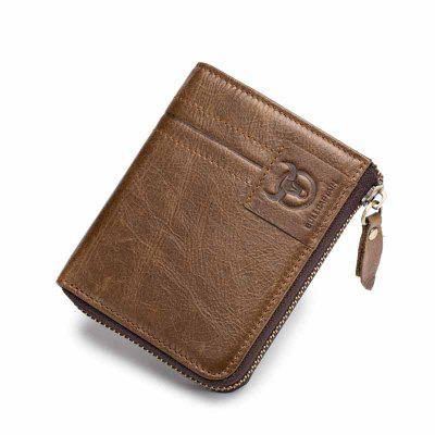 Bifold Men's Leather Wallet Coin Holder Credit Card fashion women long wallets new style leather purses card holder coin bag female