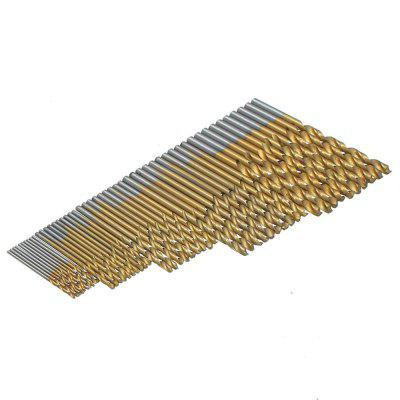 Фото 50PCS 1/1.5/2/2.5/3MM HSS Titanium Coated Twist Drill Bits High Speed Steel Set