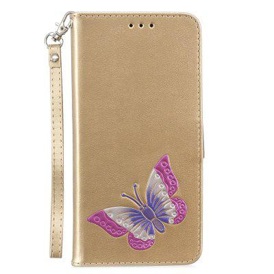 Cover Case for Redmi 5 Plus PU Leather Wallet Holster Flip Butterfly butterfly bling diamond case