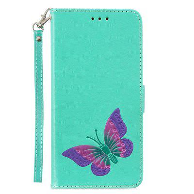 Cover Case for Redmi 5 Plus PU Leather Wallet Holster Flip Butterfly vintage leather multi function wallet card pocket zipper flip case cover for apple iphone 6 plus 6s plus 5 5