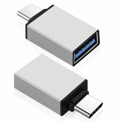 2 PCS USB 3.1 Type-C Male to USB 2.0 Female OTG Adapters Converters
