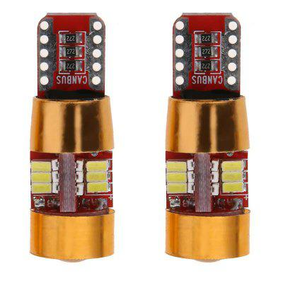 2 Pieces 5W 500LM 6000K T10 W5W CAN-bus LED License Plate Light White