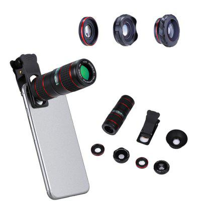 Camera lens in mobile phone lenses 12X Telephoto Telescope Optical Zoom Lens 12x optical zoom telescope camera lens w back case for samsung galaxy note 2 n7100 silver black