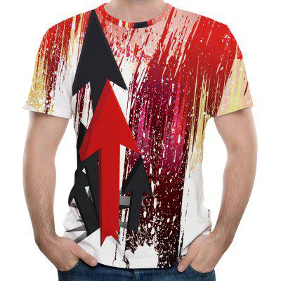 Summer Fashion New Arrow 3D Print Men's Short Sleeve T-shirt