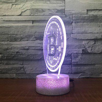 Round  Pattern Touch Colors Changing LED Night Light