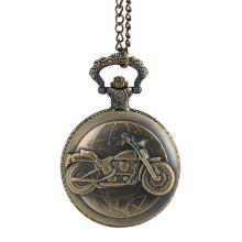 Seasonal 30015293 Large Classical Earth Motorcycle Pocket Watch