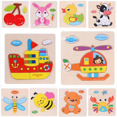 Wooden 3D Puzzle Jigsaw Kids Children Educational Toy popular toys creative three dimensional jigsaw puzzle educational toys for children solar model biplane model jigsaw puzzle toys