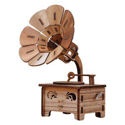 Creative Retro Nostalgia Phonograph Wind-up Music Box Toys